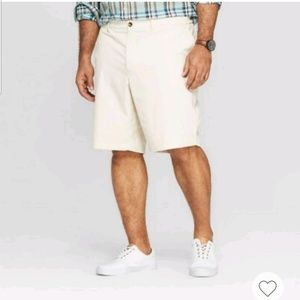 "Mens Big Tall 10.5"" Chino Shorts Goodfellow Cream"